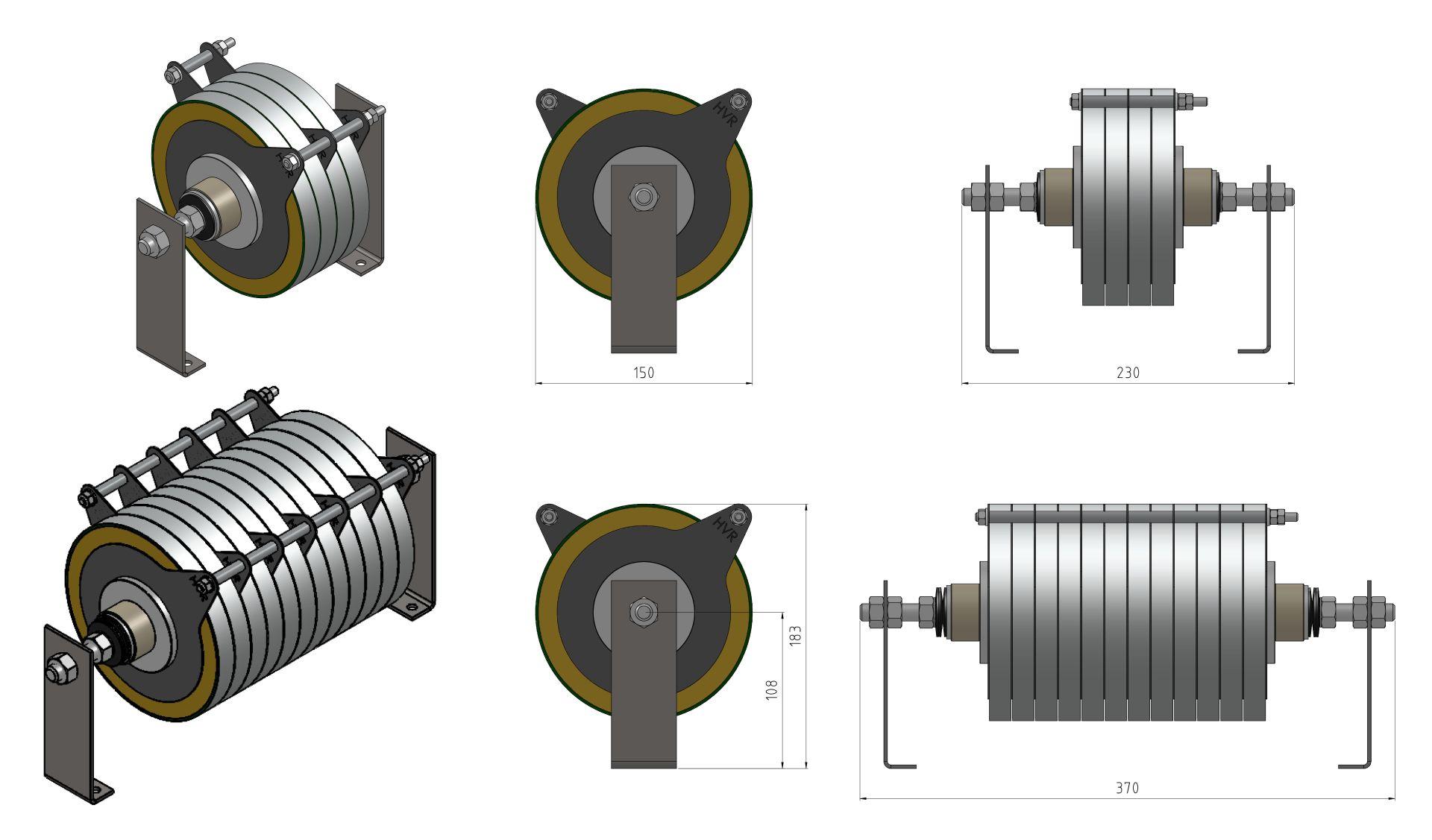 Sample Drawings of Stacks for Generator De-Excitation