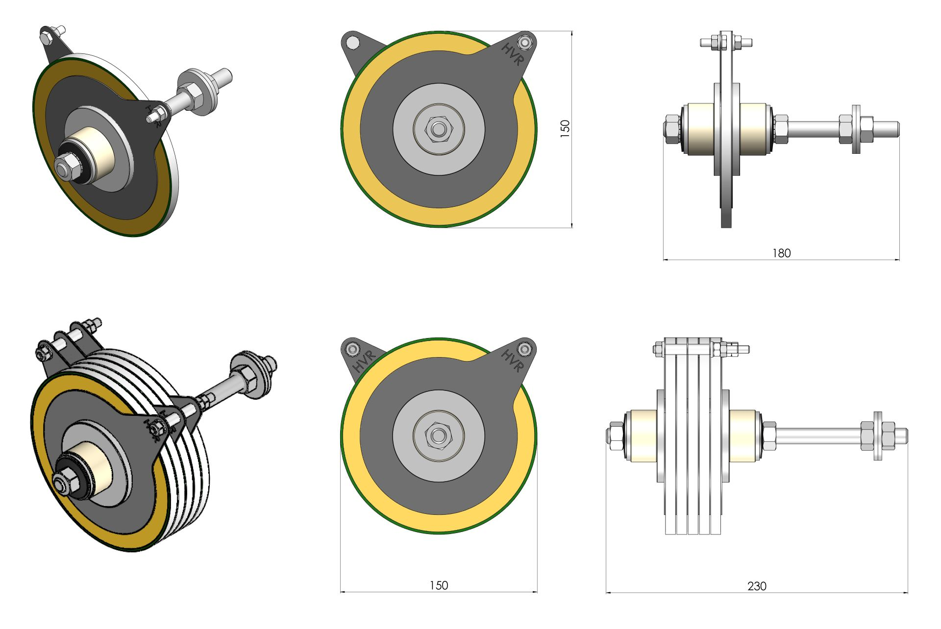 150mm Example Drawings of Protection for Lifting Magnets