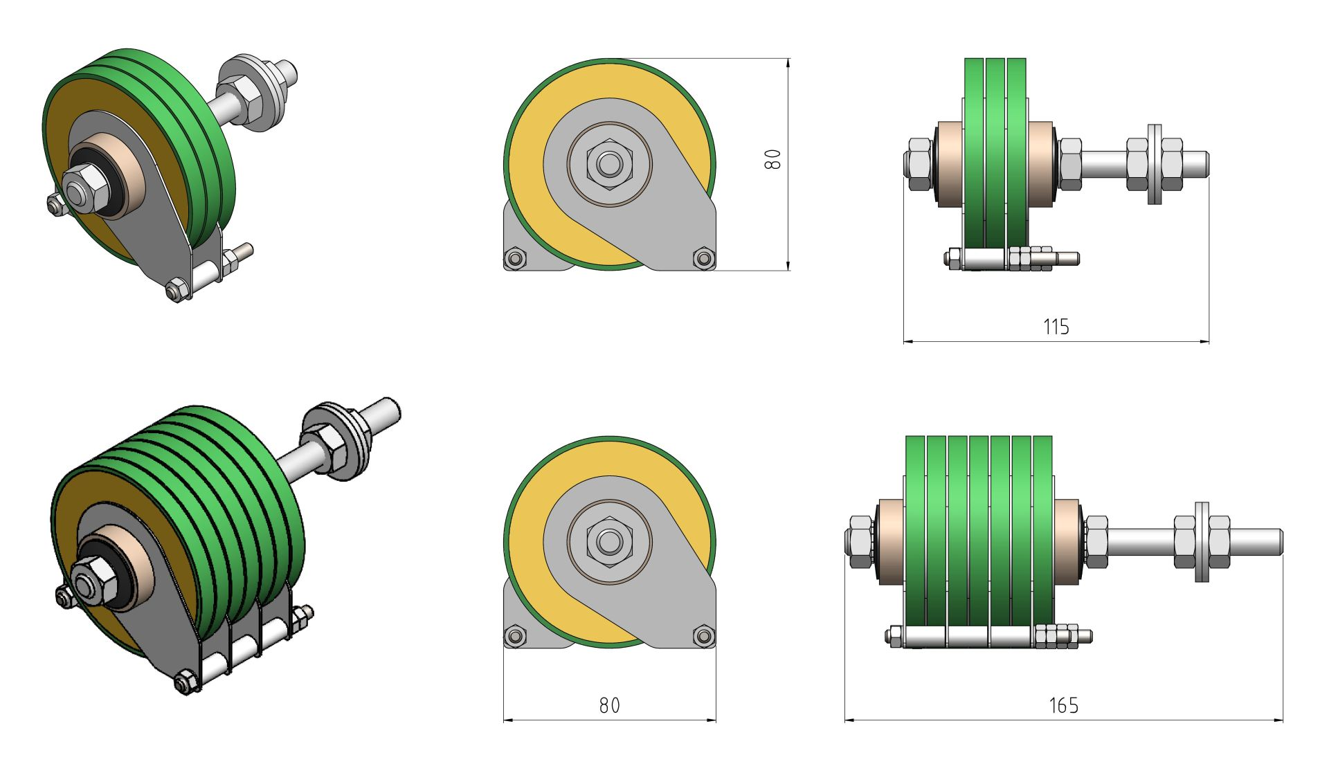 80mm Example Drawings of Protection for Lifting Magnets