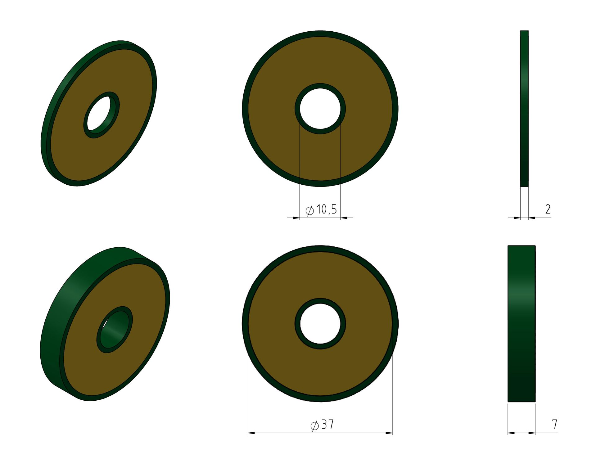 Discs 40mm Example Drawings