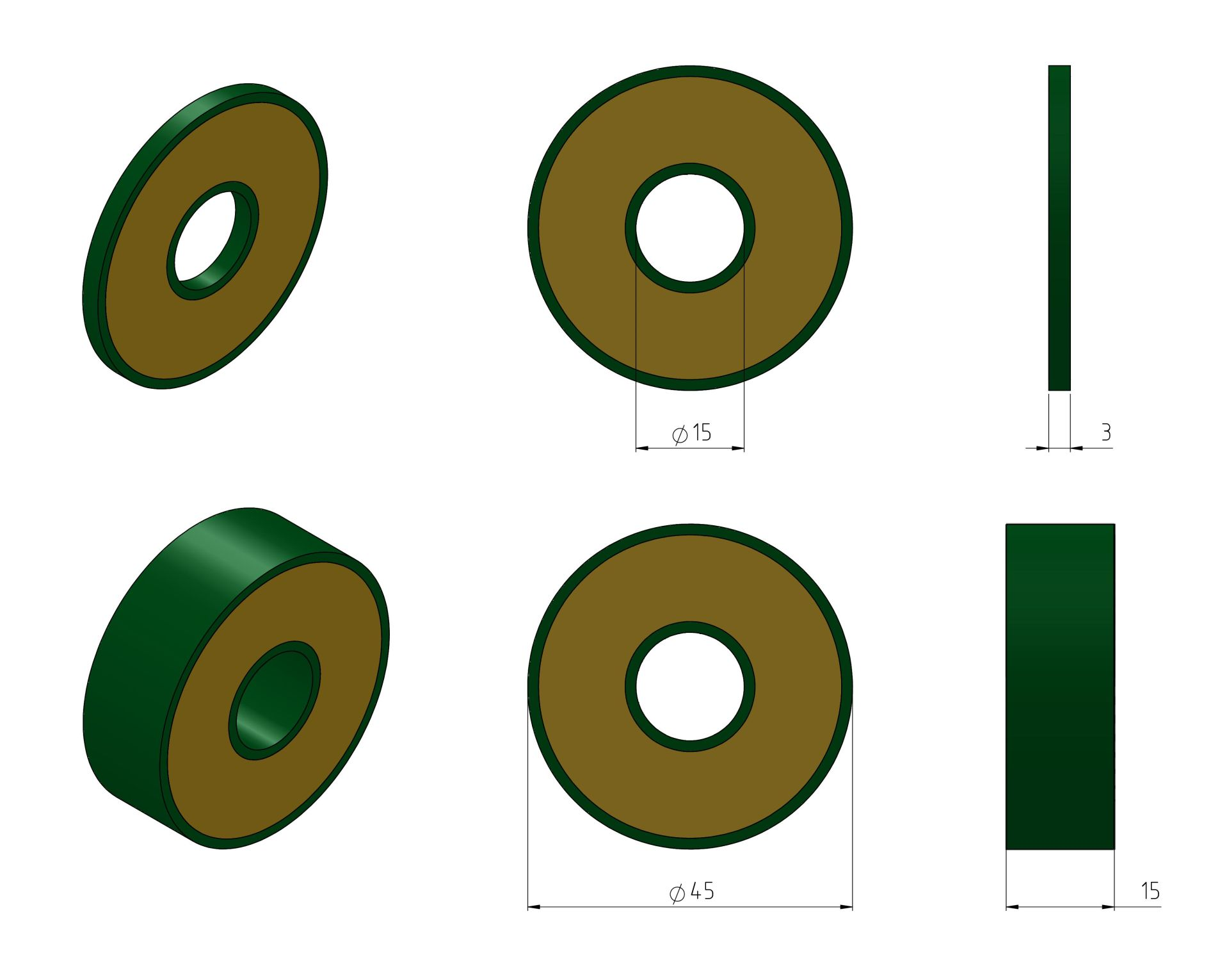 Discs 45mm Example Drawings