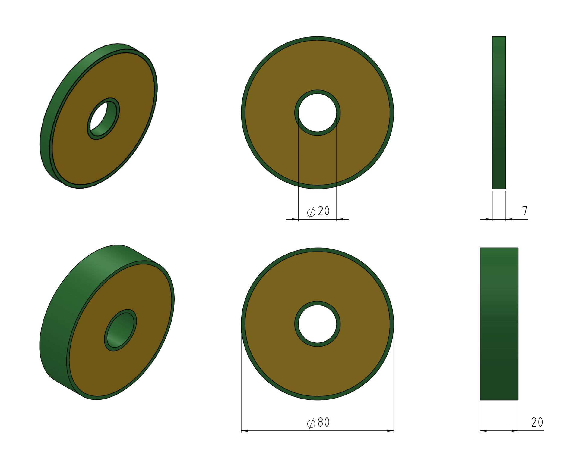 Discs 80mm Example Drawings
