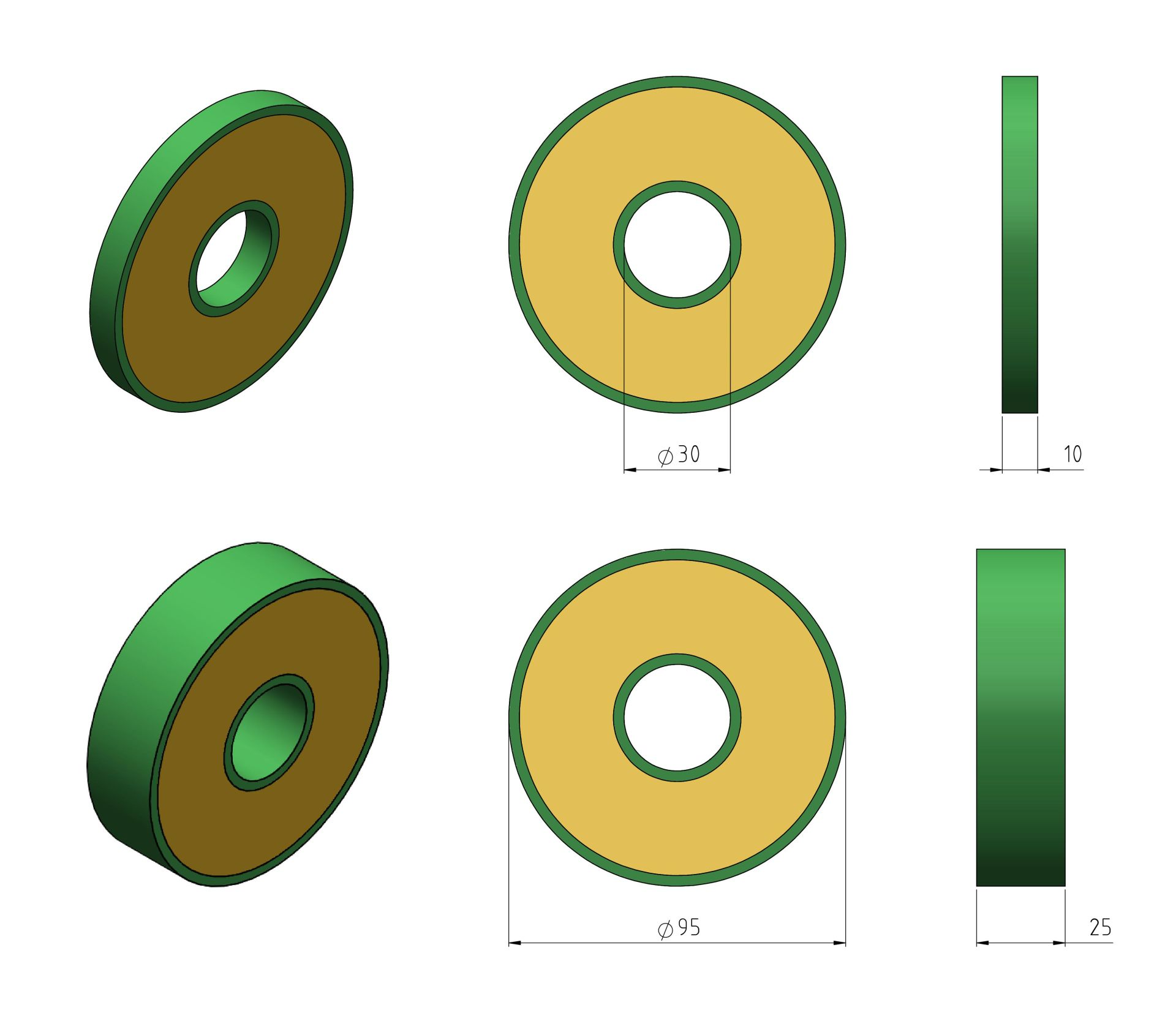 Discs 95mm Example Drawings